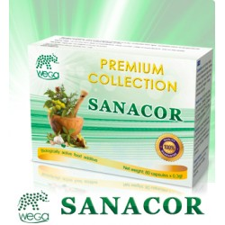 Sanacor (anti-parasitic) 80 capsules, 12 natural ingredients